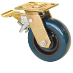 4MR-YZ Mr. Roller Series / Yellow Zinc / Adjustable Total Lock Caster